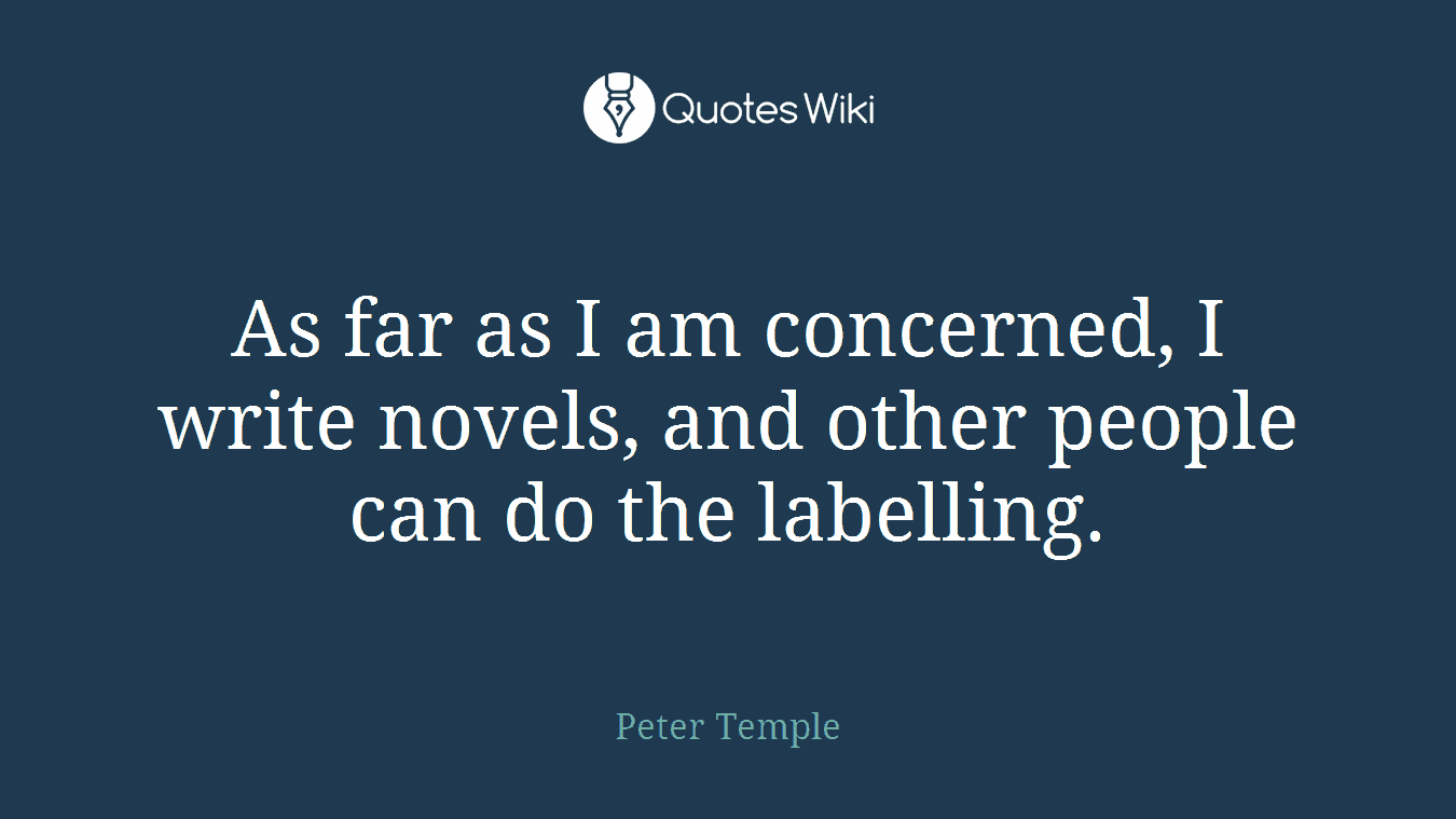 As far as I am concerned, I write novels, and other people can do the labelling.