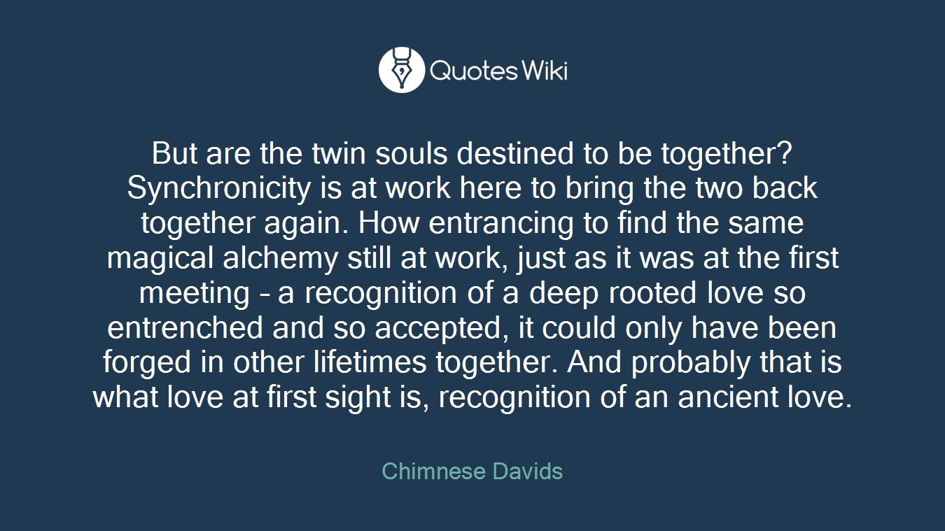 But are the twin souls destined to be together?