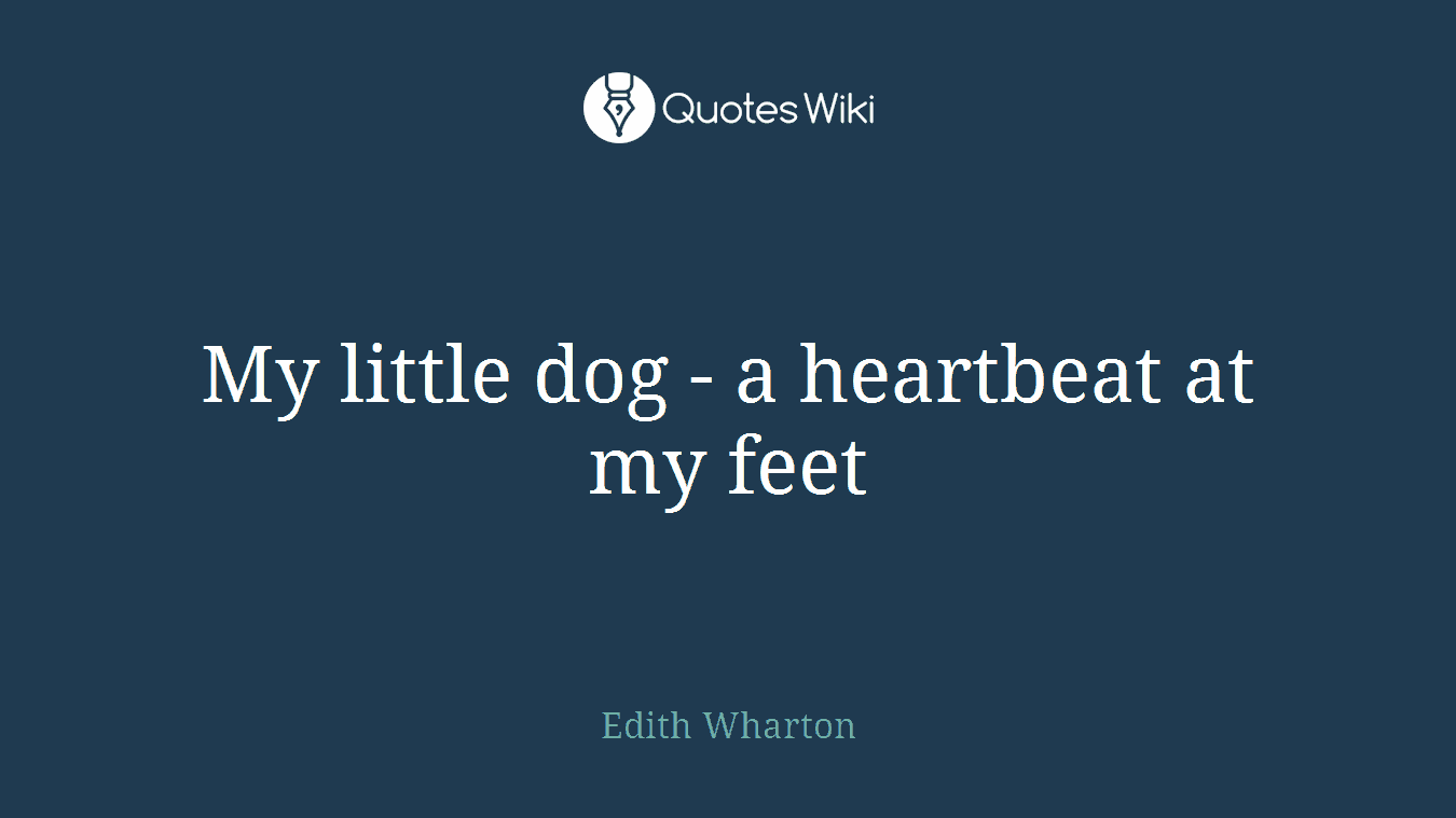 My Little Dog A Heartbeat At My Feet Quoteswiki