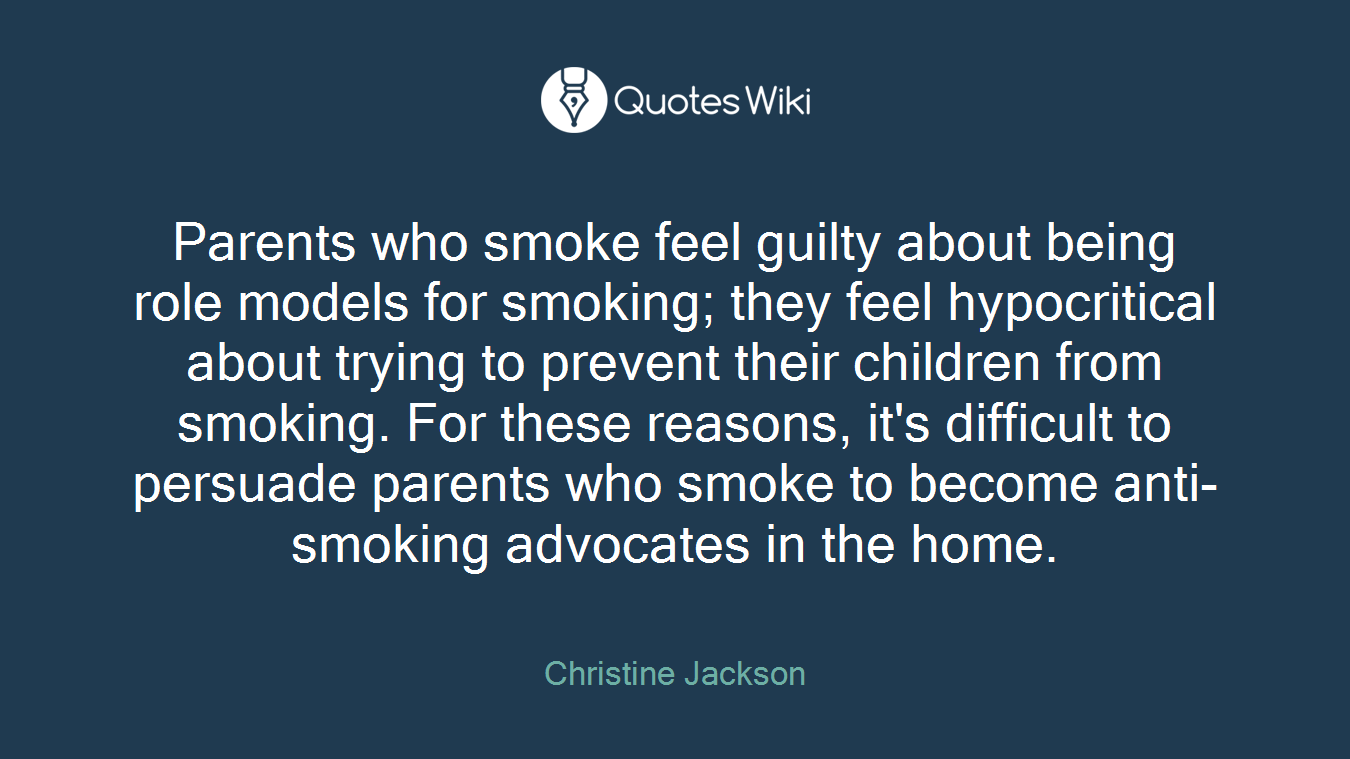 Parents Who Smoke Feel Guilty About Being Role