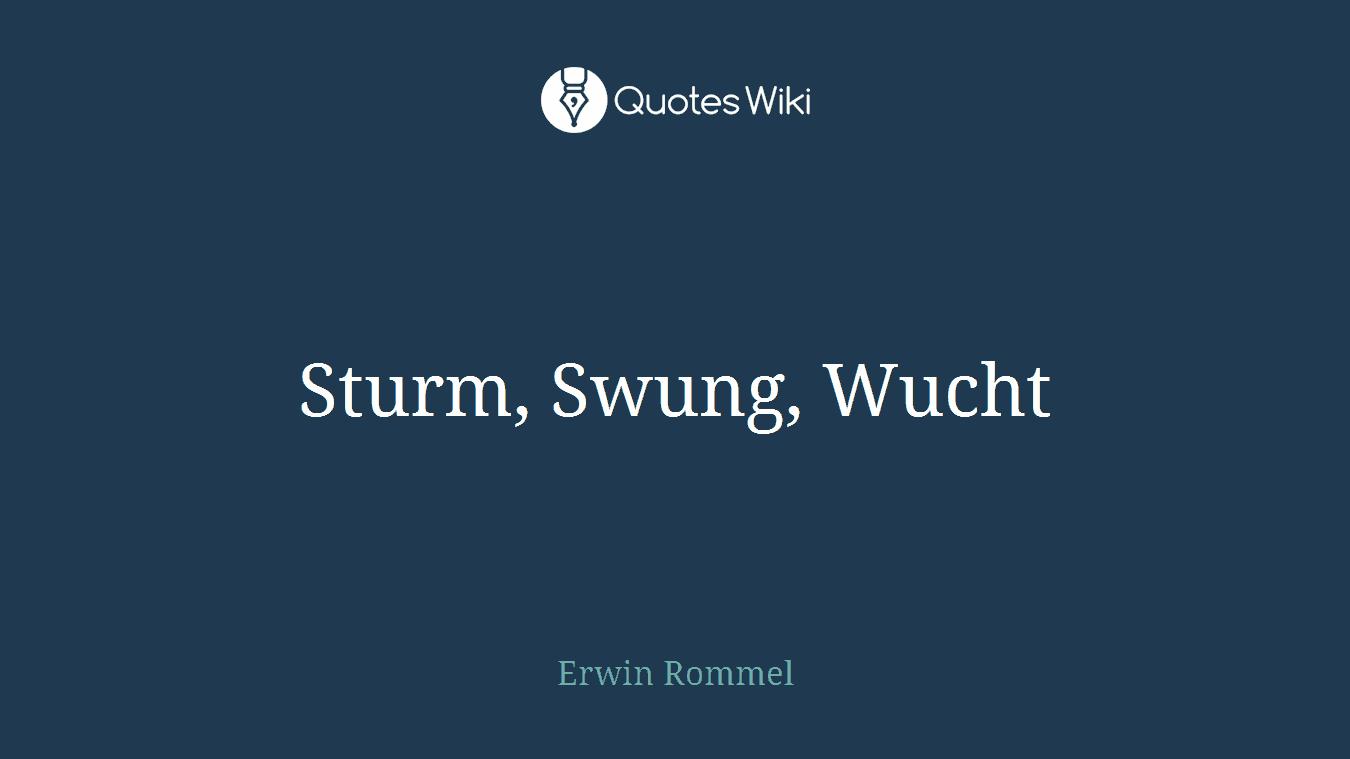 Sturm, Swung, Wucht