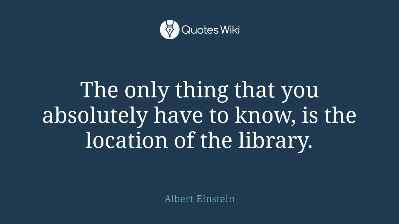 The only thing that you absolutely have to know, is the location of the library.