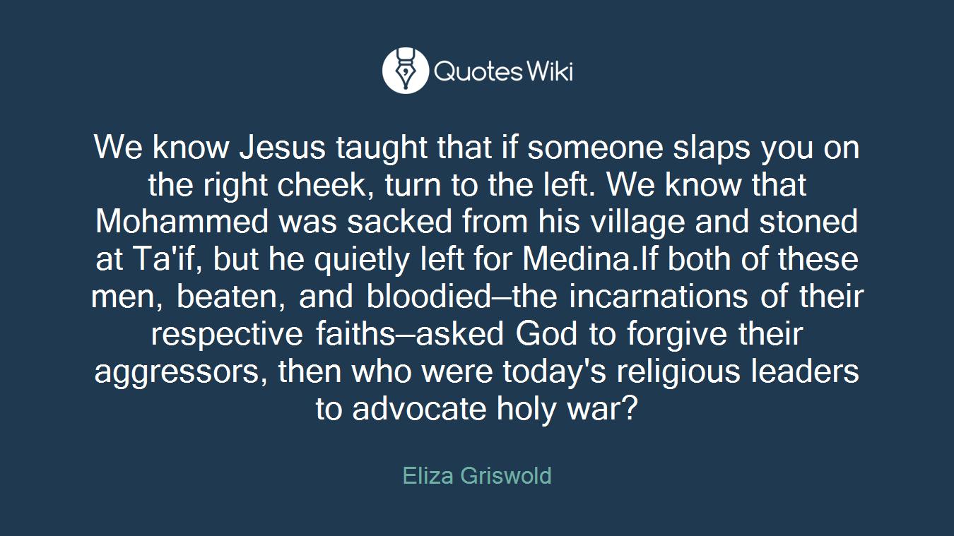 Slaps Quotes | We Know Jesus Taught That If Someone Slaps You
