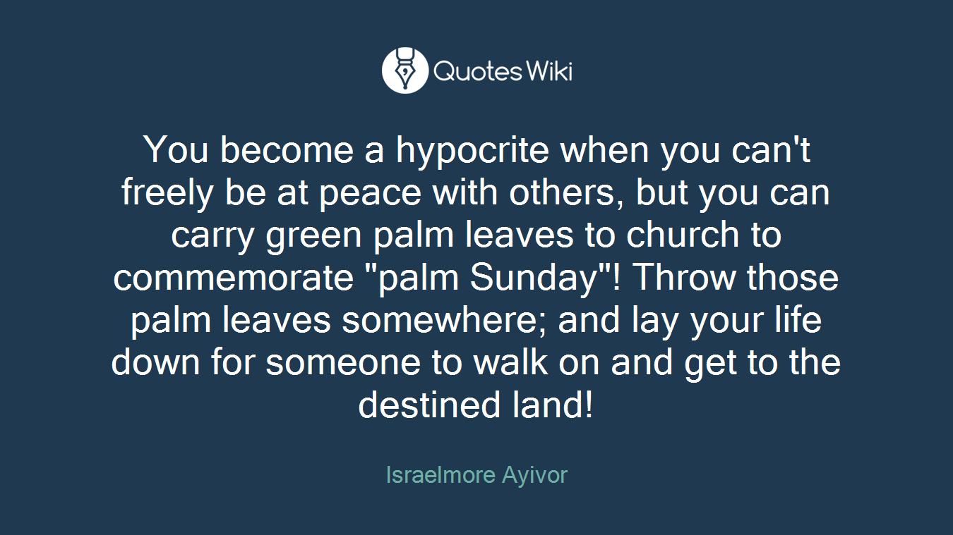 You Become A Hypocrite When You Cant Freely Be