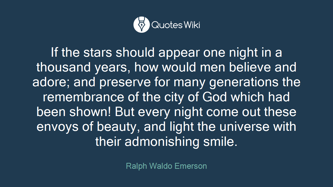 If The Stars Should Appear One Night In A Thous Quoteswiki