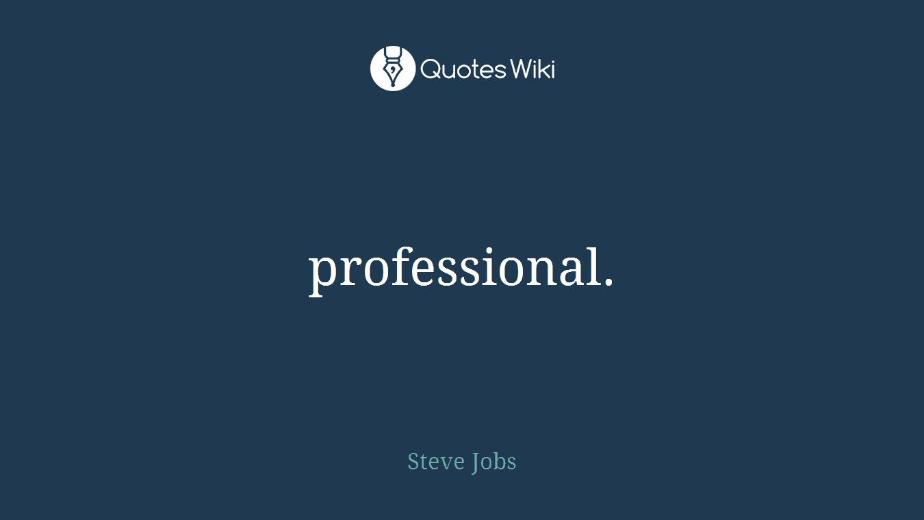 professional.